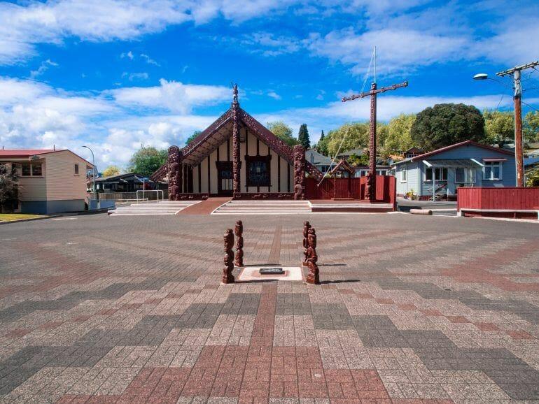 Te Papaiouru Marae Rotorua Neuseeland