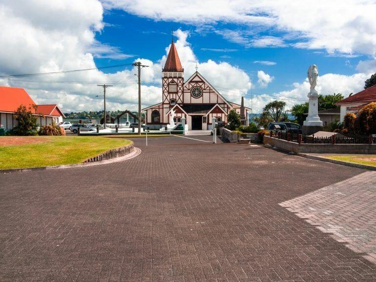 Kirche Ohinemutu in Rotorua Neuseeland