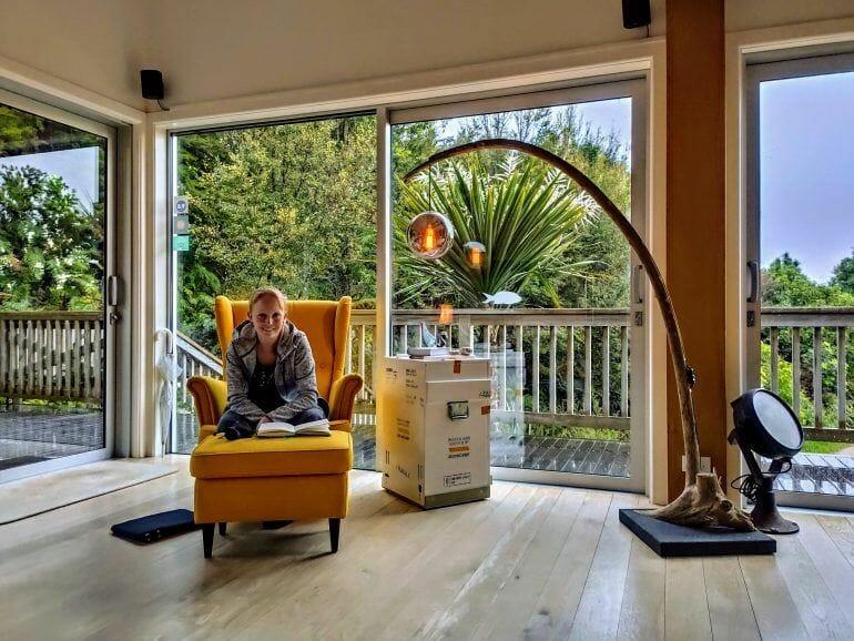 Wohnzimmer Serenity Lodge Abel Tasman Nationalpark