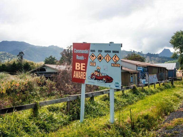 Road 309 Coromandel Peninsula Neuseeland
