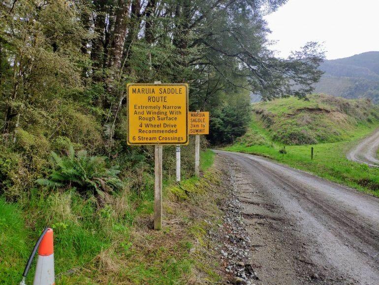Warnschild Neuseeland