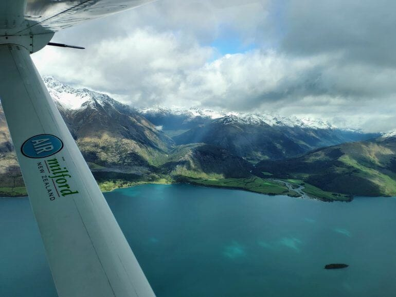 Flug nach Milford Sound Neuseeland