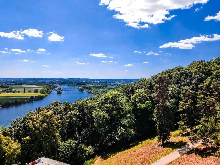 Blick auf Donau von Walhalla Deutschland