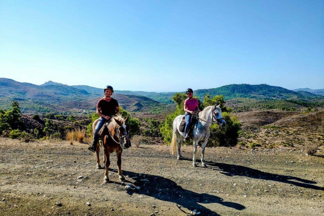 Ausritt Elpida Ranch Rhodos