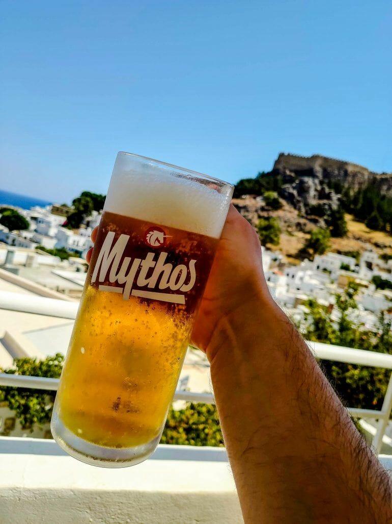 Mythos All Day Restaurant Lindos Rhodos